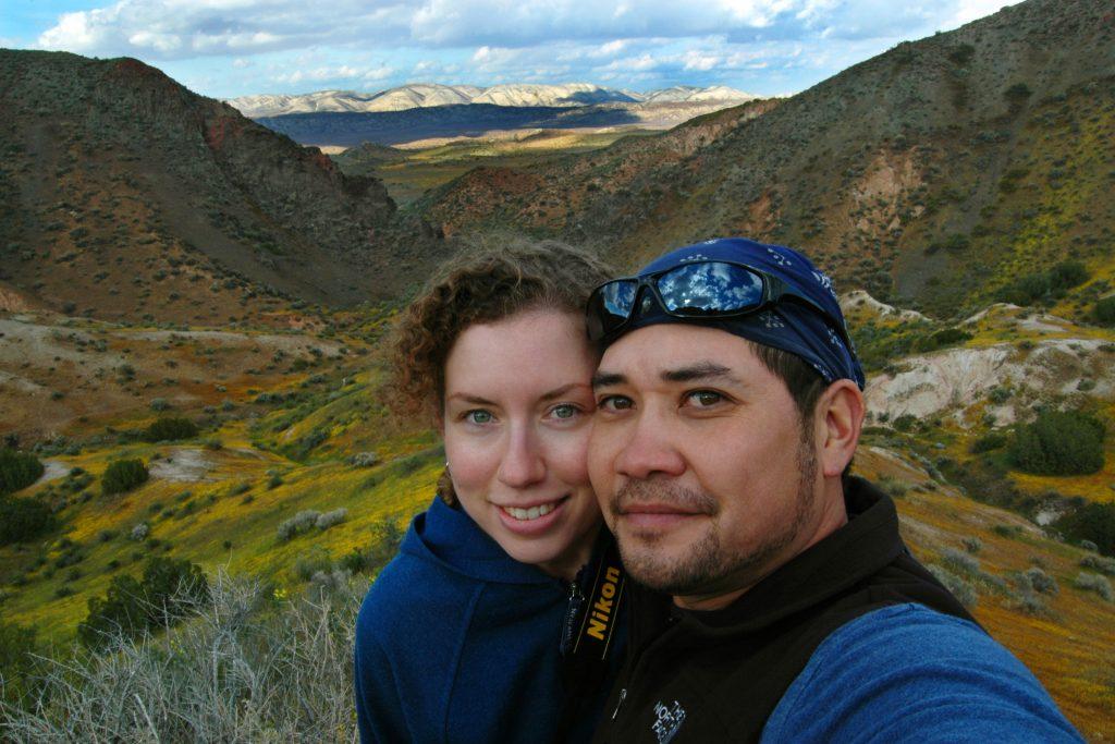 Michael and Christina in California's Carrizo Plains