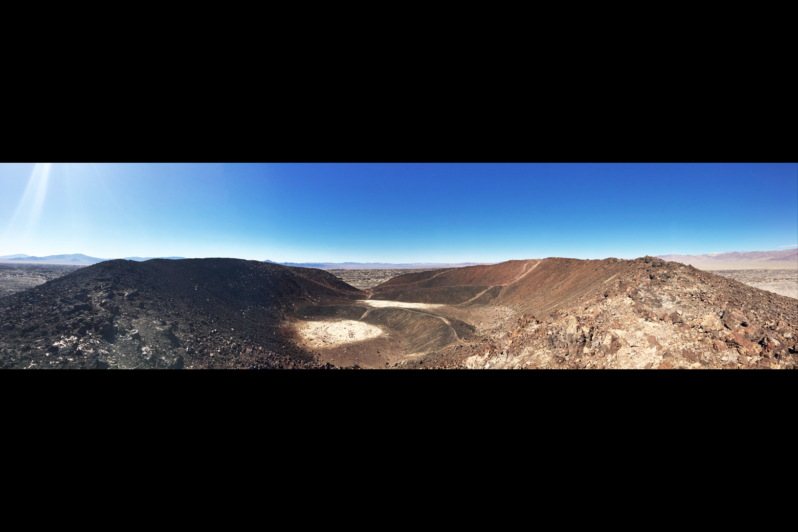 Panoramic of Amboy Crater from the rim