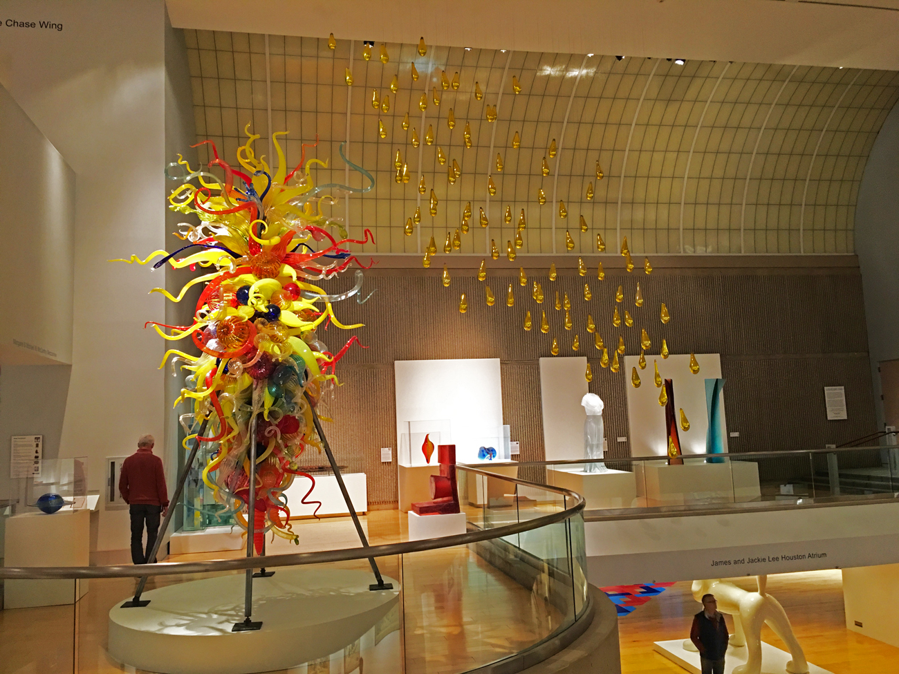 Glass art display at the Palm Springs Art Museum