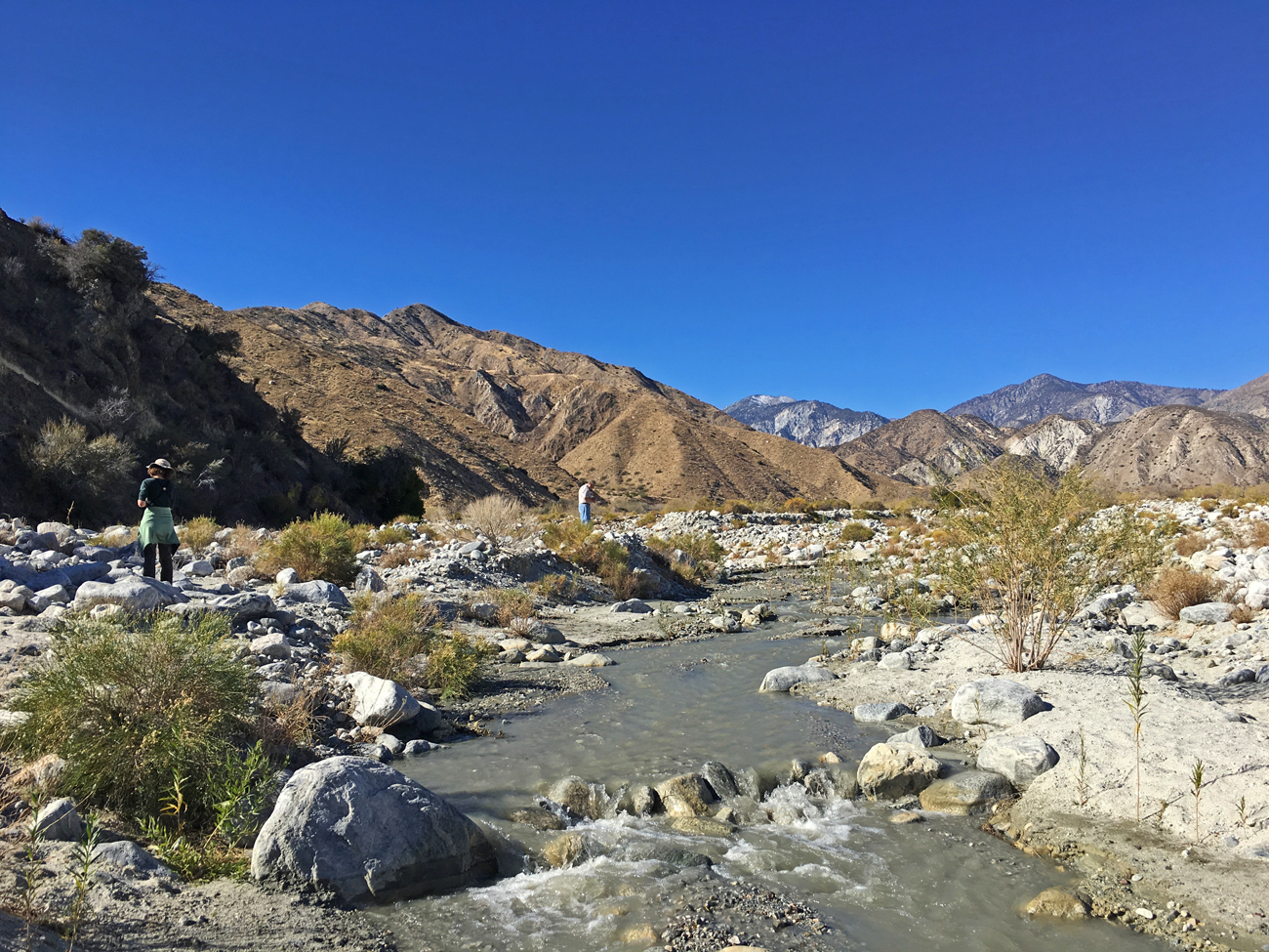 View of Whitewater River on the trail